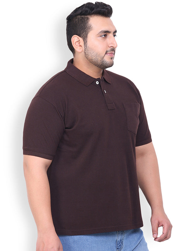 Unassuming Brown Cotton T-Shirt- 3105E