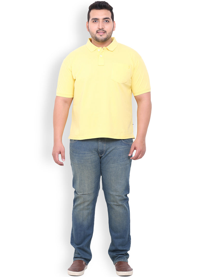 Yellow Cotton T-Shirt- 3105G