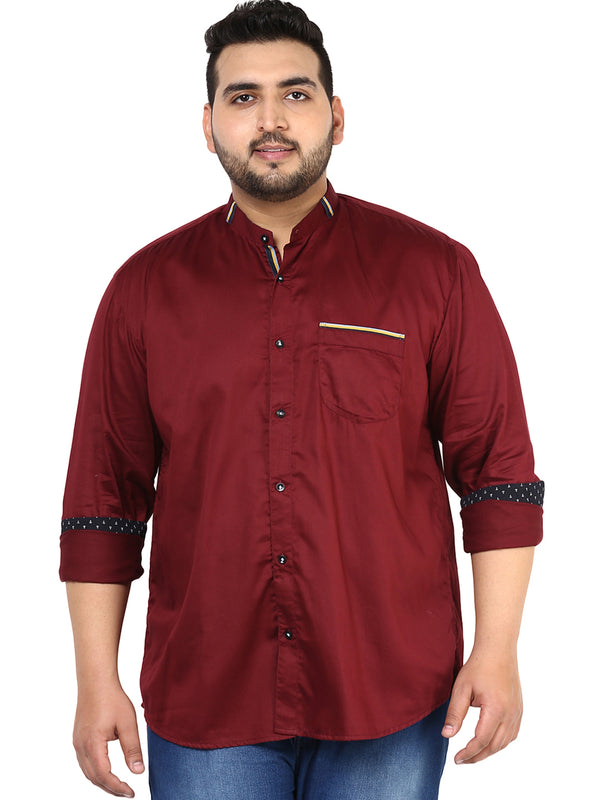 Maroon Casual Shirt - 4117B