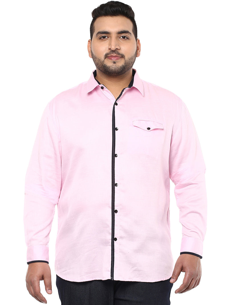 Pink Casual Shirt- 4119B