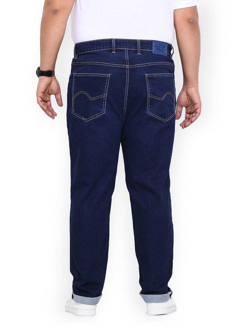 Dark Blue Cotton Stretch Denim Jeans- 1186A
