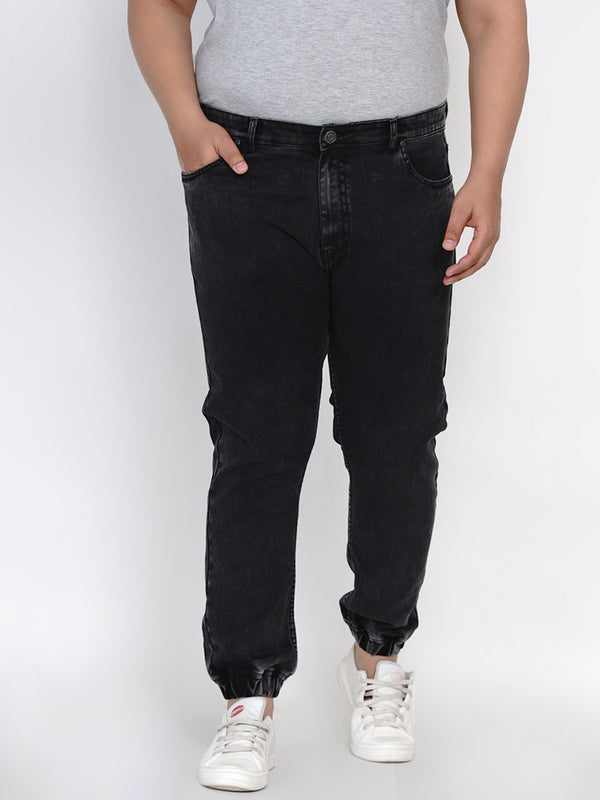 BLACK STRETCH JOGGER - 2550