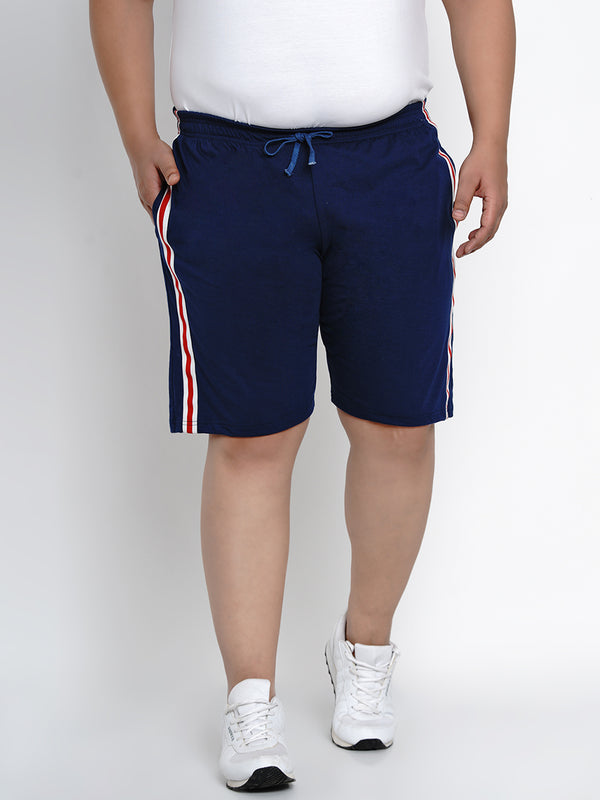 NAVY BLUE REGULAR FIT HOSIERY SHORTS - 6668