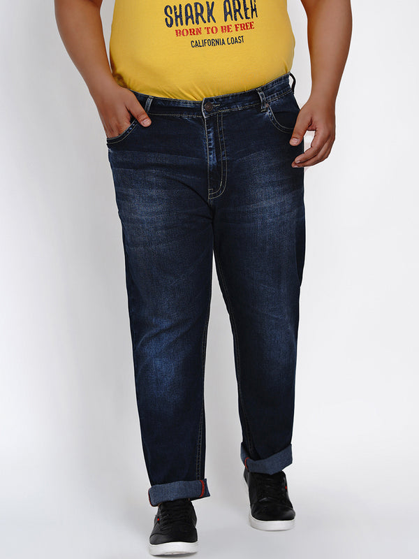 DARK BLUE STYLISH JEANS - 1283