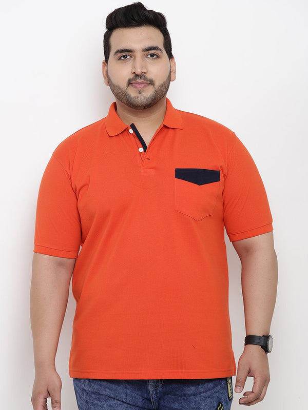 Unassuming Orange Polo T-Shirt- 3169B