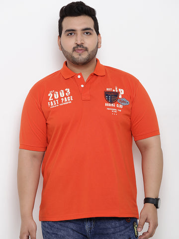 Orange Half Sleeve Polo T-Shirt- 3170B