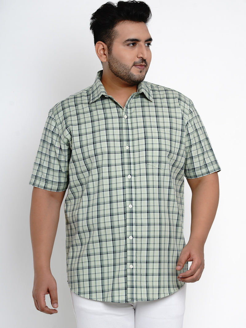 Green Tartan Check Cotton Shirt - 103