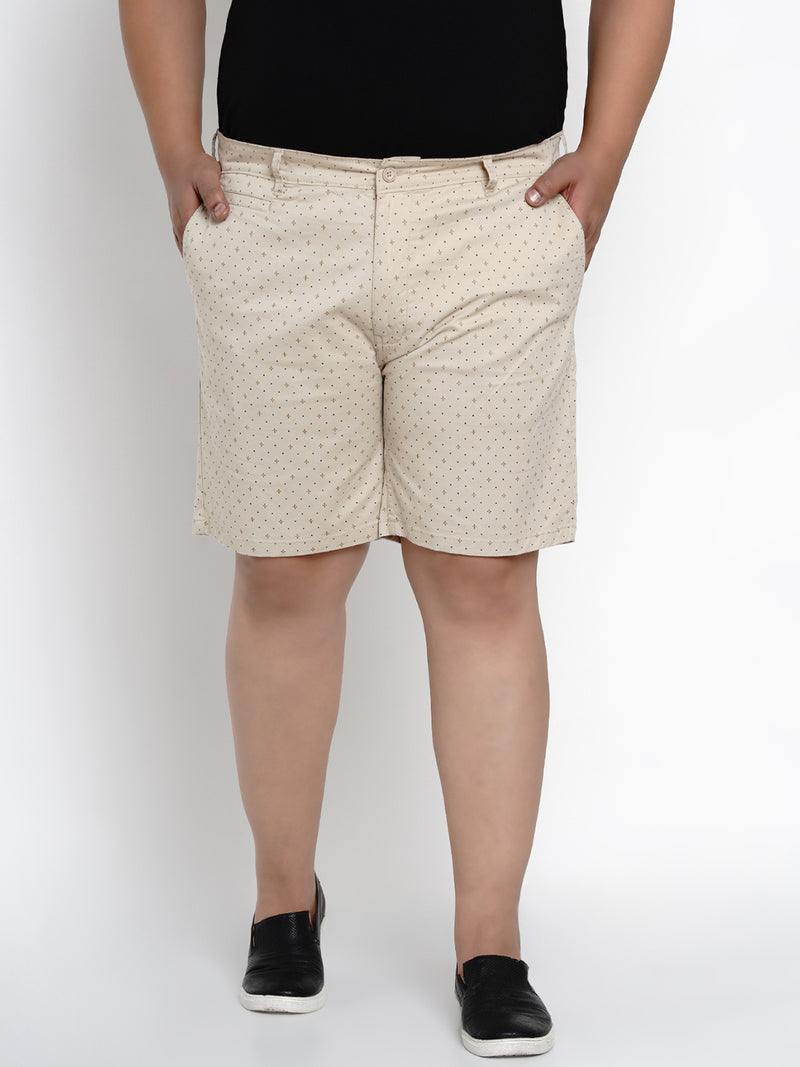 Beige Stretchable Chino Shorts - 6661B