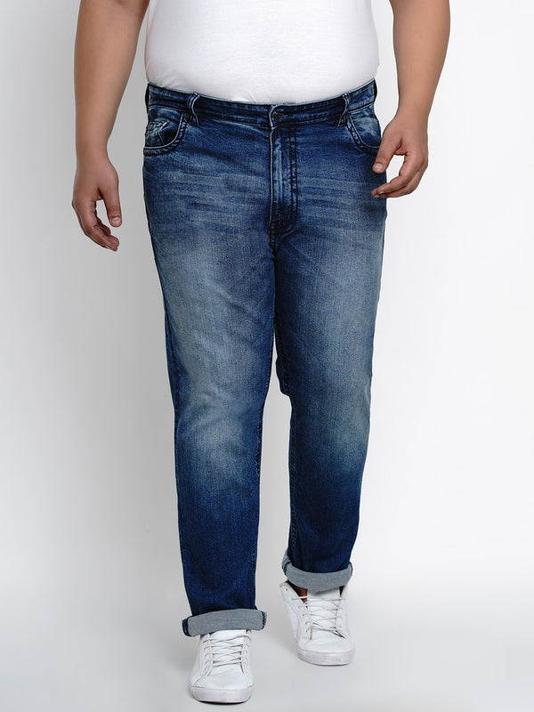 CAROLINA BLUE STRETCHABLE JEANS WITH THICK STITCHING DETAILS - 2506
