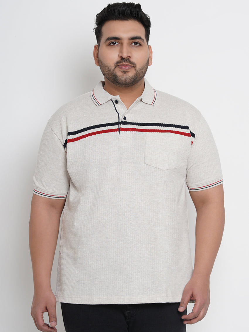 OFF-WHITE BOTH SIDED DOUBLE STRIPE POLO - 3256B
