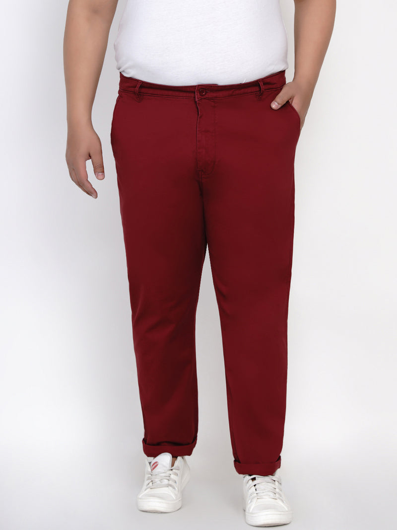 MAROON STRETCH TROUSER - 2161J