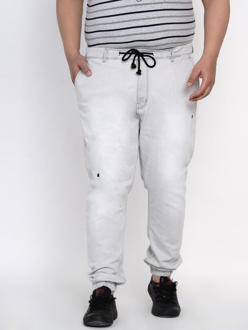 STYLISH GREY STRETCH JOGGER - 12101