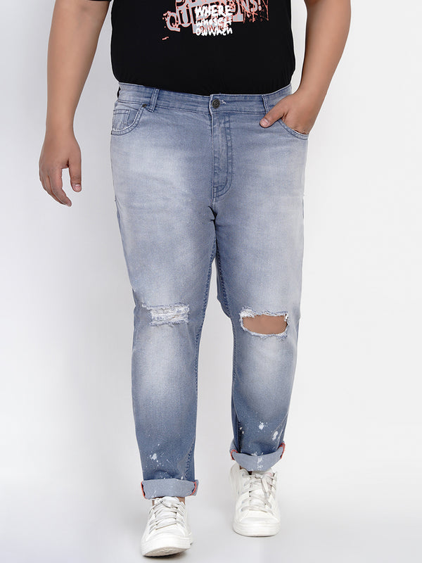 LIGHT BLUE RIPPED JEANS-2541