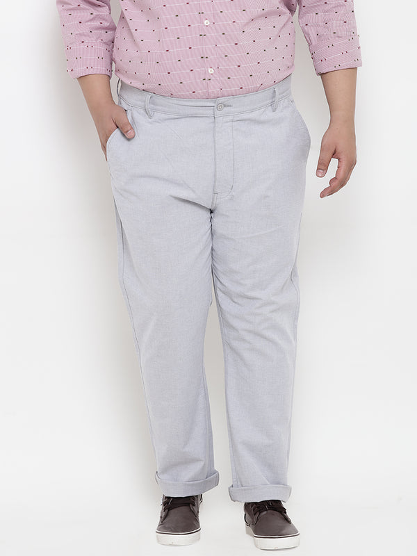 Pearl River Grey Cotton Trouser- 2127B
