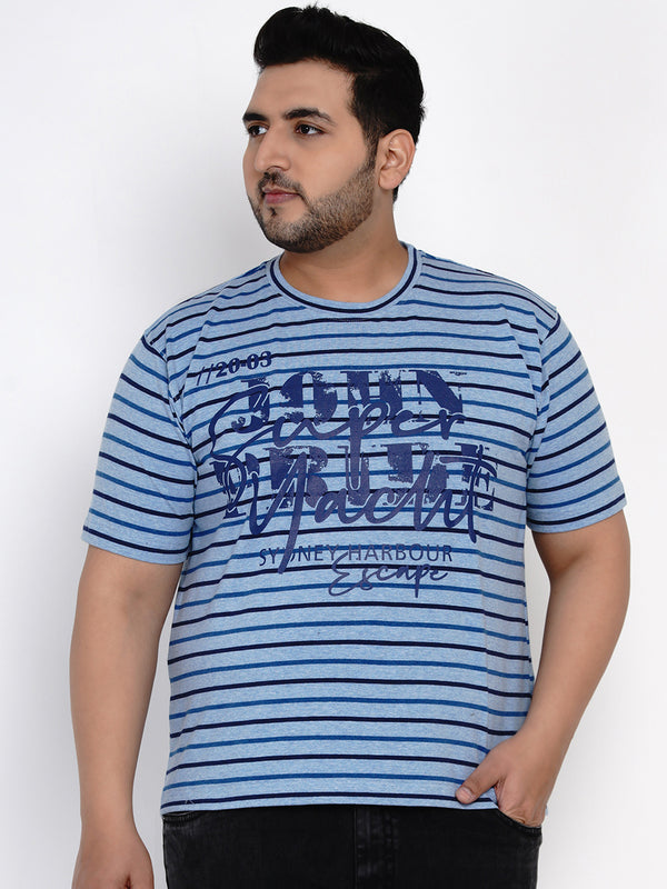 BLUE STRIPED T-SHIRT - 380B