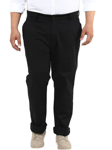 Black Cotton Trouser- 2111B