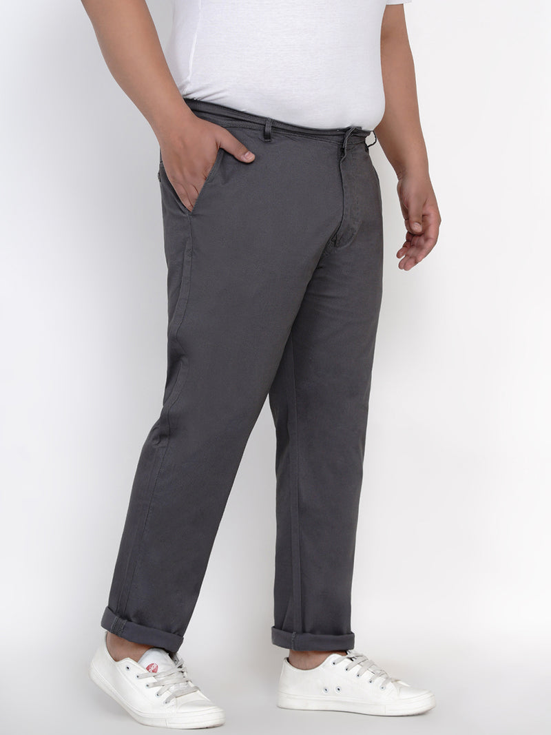 GREY STRETCH TROUSER - 2161E