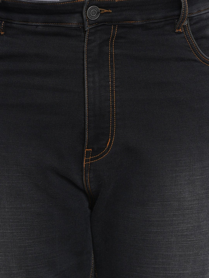 Black Clean Look Smart Fit Stretchable Jeans- 1262