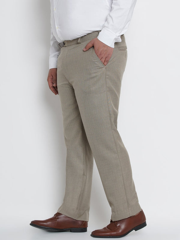 Beige  Formal Trousers- 2250A