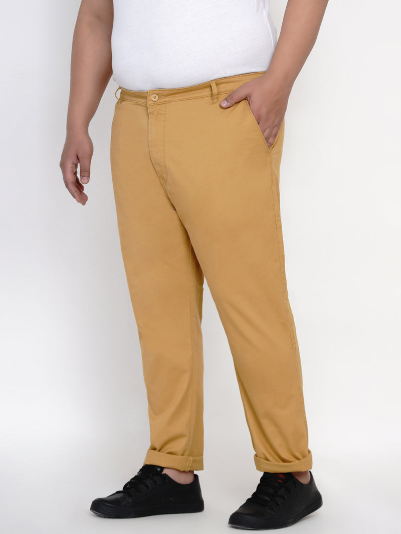 MUSTARD STRETCH TROUSER - 2161A