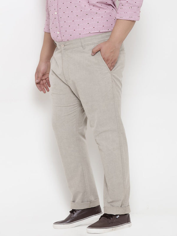Beige Cotton Trouser- 2127A