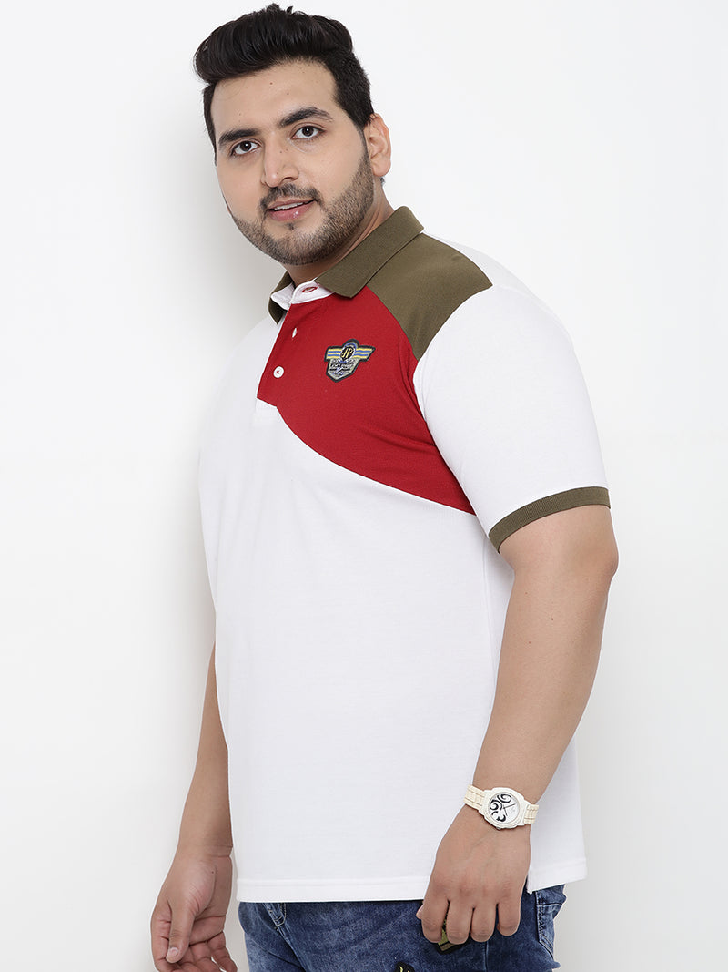 Color Blocked Polo T-Shirt- 3167A