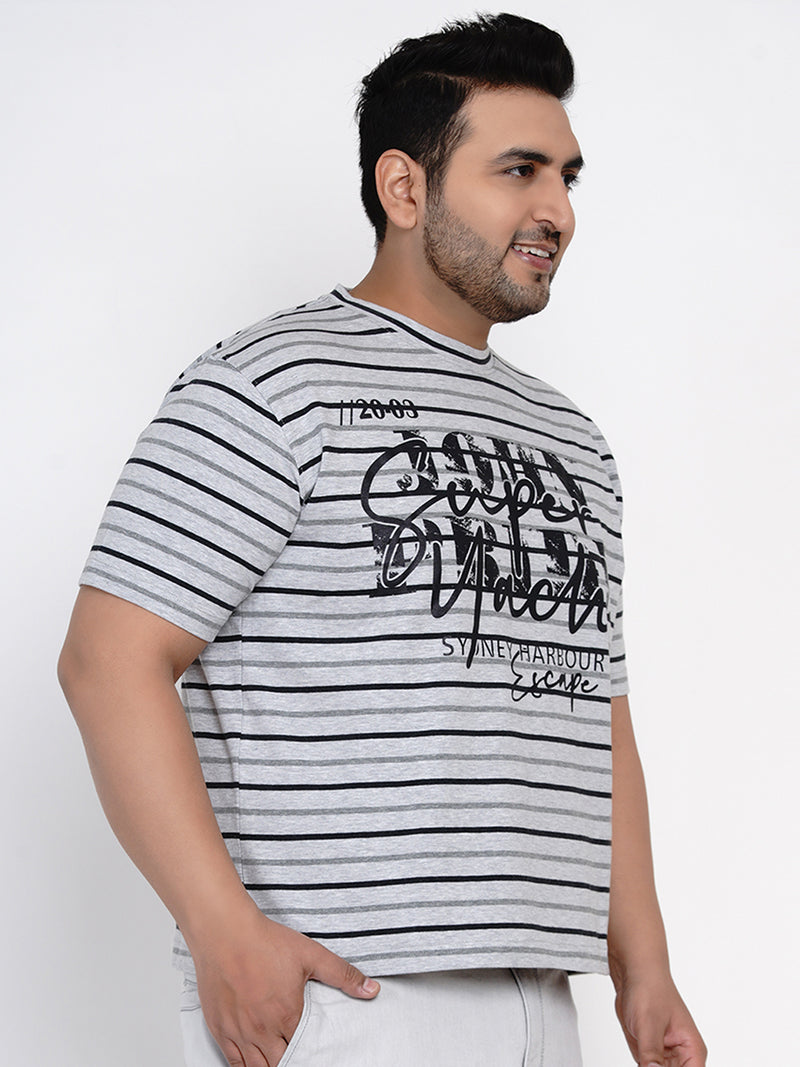 GREY STRIPED T-SHIRT - 380A
