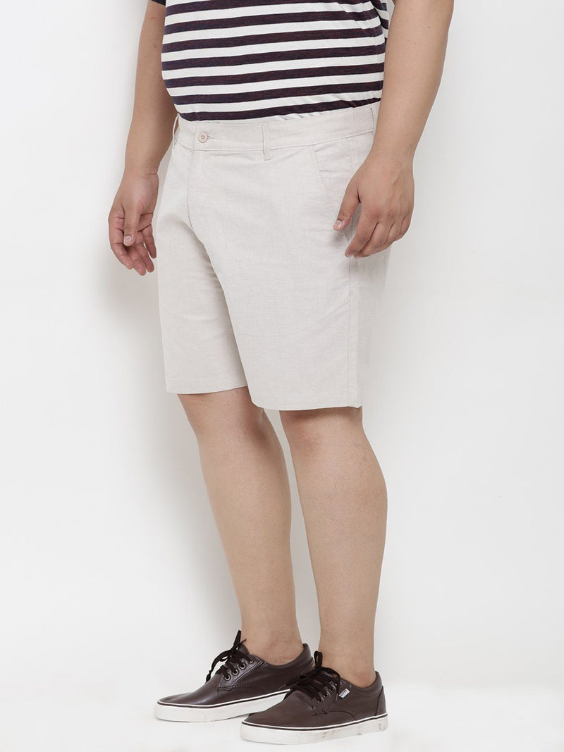 Beige Cotton Shorts- 6620B