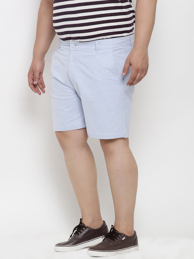 Sky Blue Cotton Shorts- 6620A