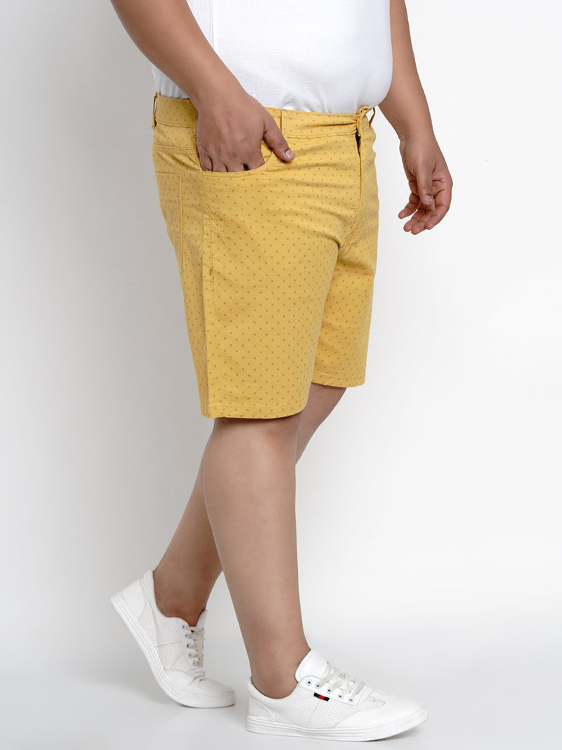 YELLOW STRETCHABLE CHINO SHORTS - 6660B
