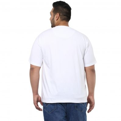 White Solid T-Shirt- 3122B