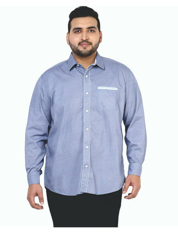 Blue Cotton Shirt- 4106A