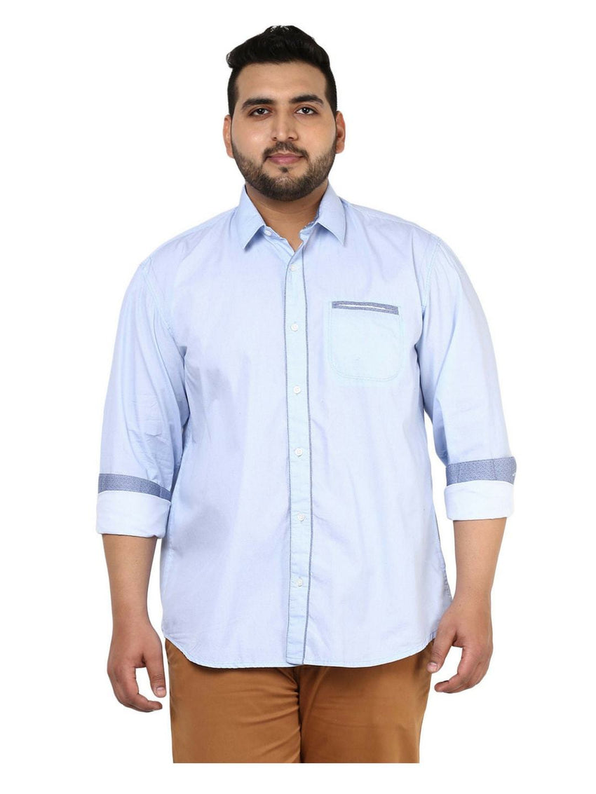 Blue Cotton Shirt- 4106B