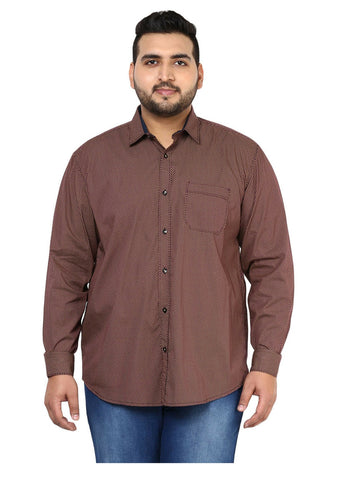 Coffee Cotton Shirt- 4108B