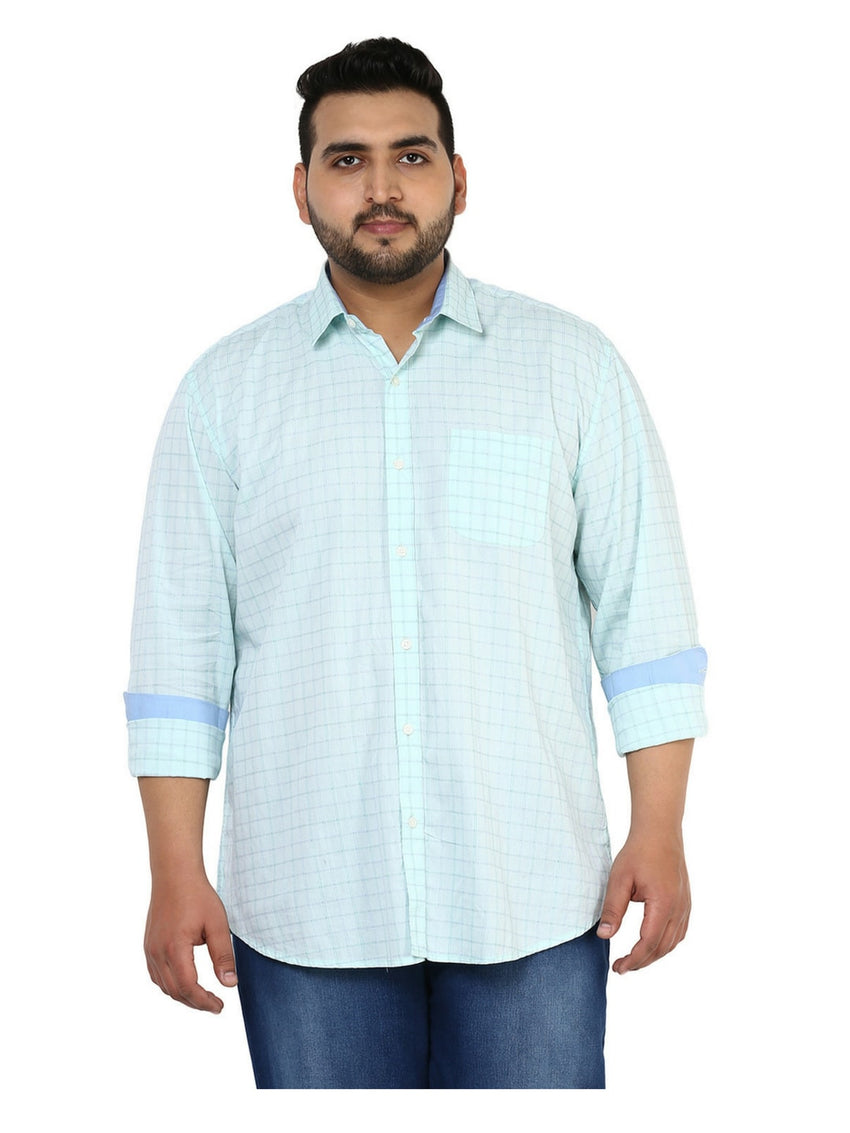 Green Cotton Shirt- 4114C