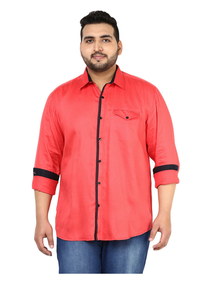 Red Casual Shirt- 4119A