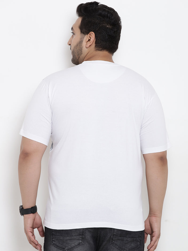 White Half Sleeve Round Neck T-Shirt- 315B
