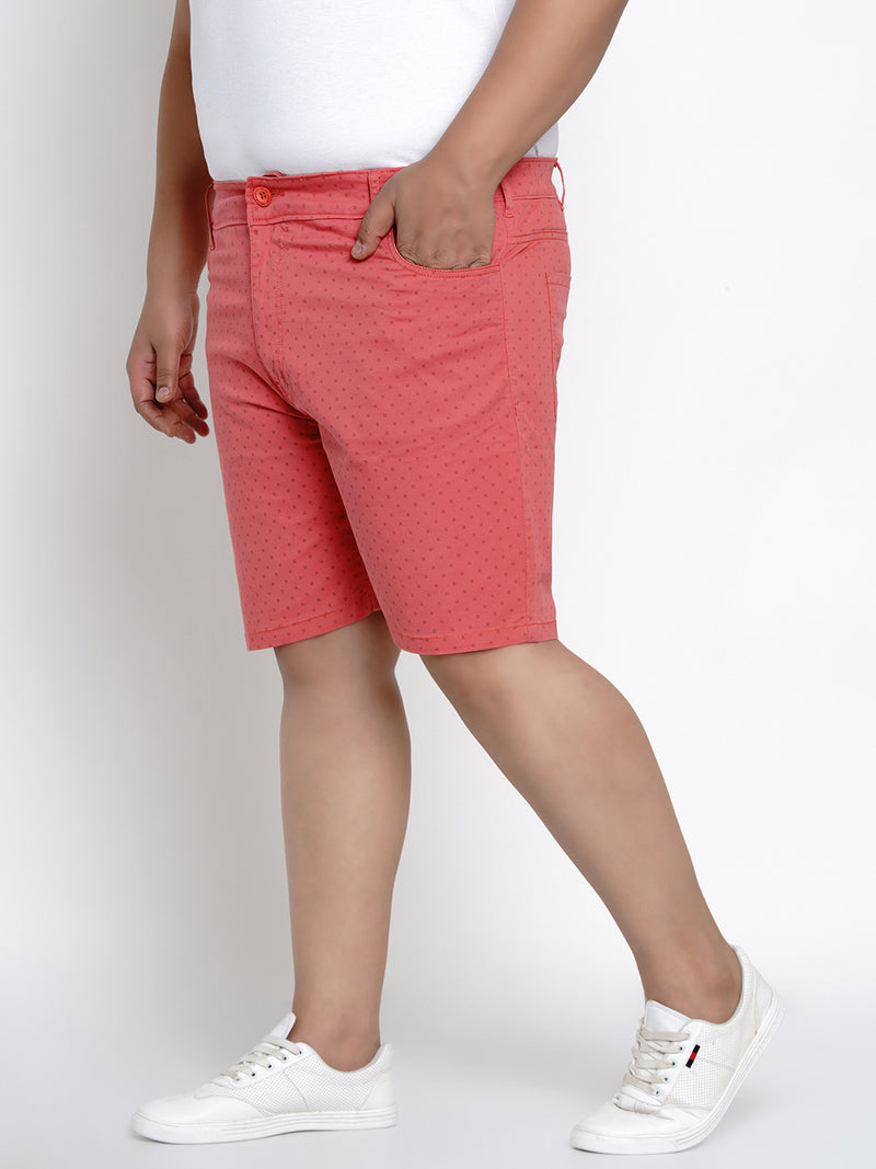 RED STRETCHABLE CHINO SHORTS - 6660A