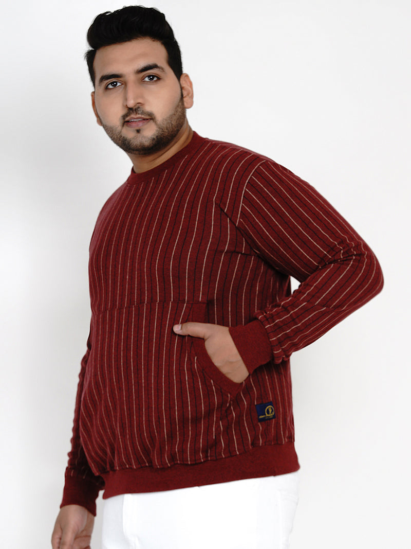 RUST ROUND NECK SWEATSHIRT - 7610
