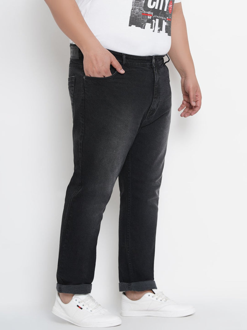 Charcoall Black Clean Look Smart Fit Stretchable Jeans- 1261B