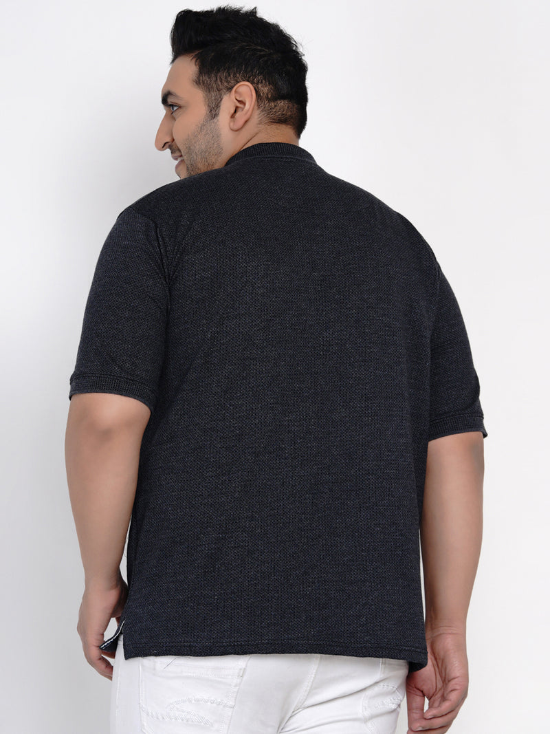 BLACK CASUAL POLO T-SHIRT - 3272A