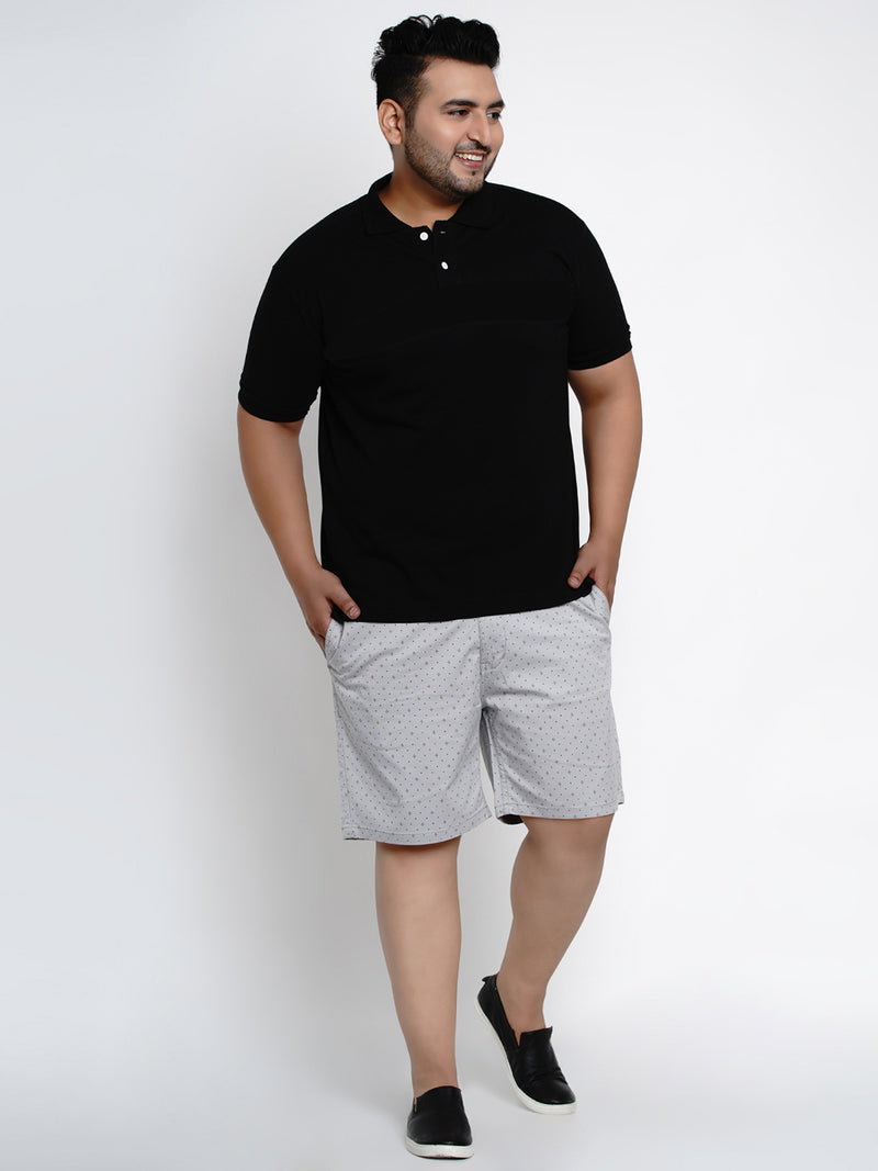 Grey Stretchable Chino Shorts - 6661A
