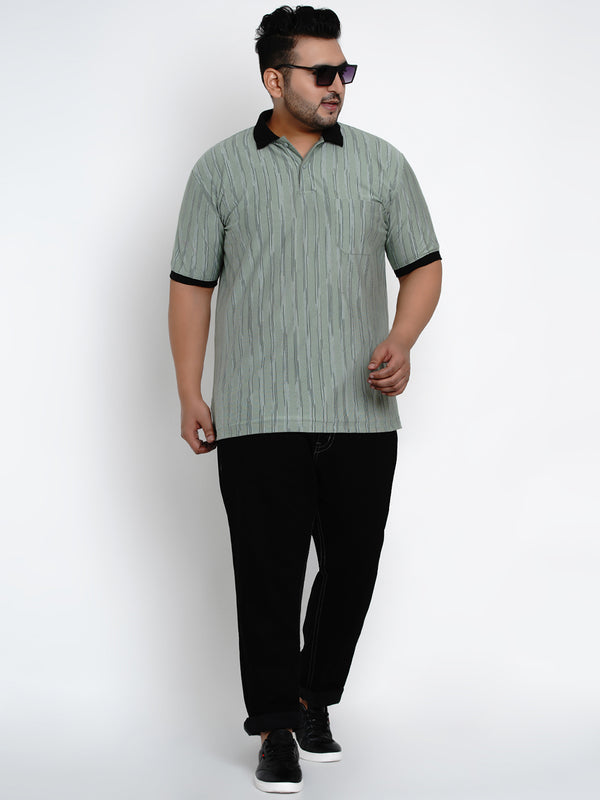 Vertical Stripe Polo Shirt - 3260A