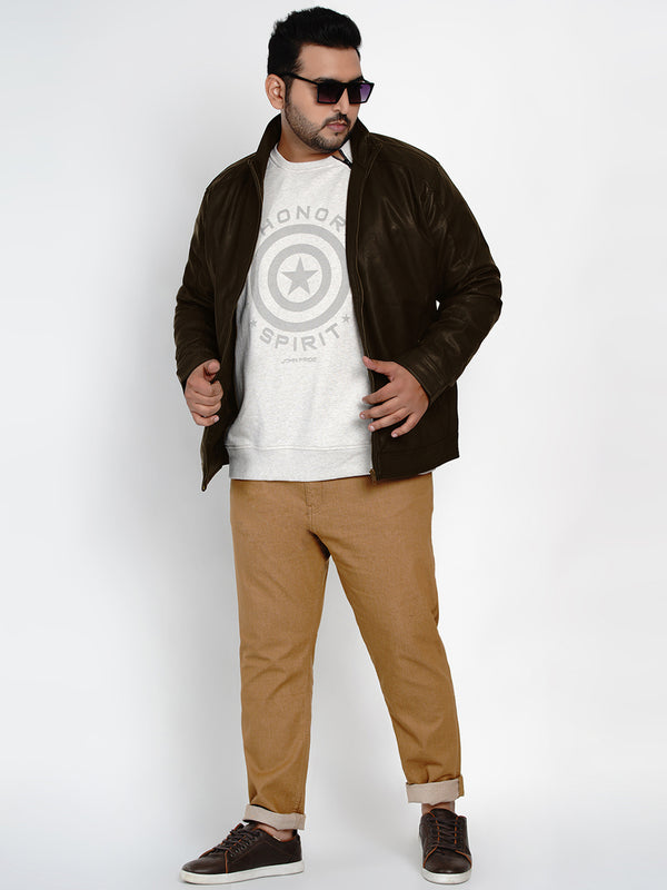 Brown Leather Jackets -7351