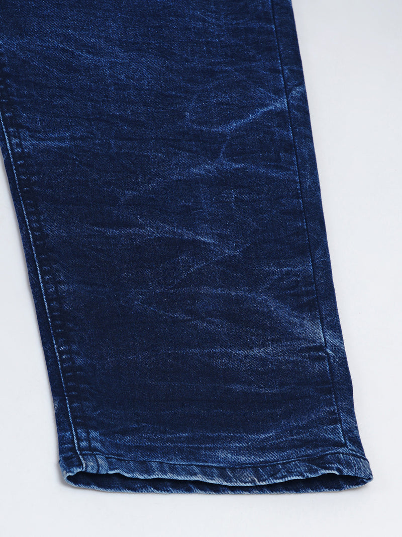 DARK BLUE JEANS WITH MYSTICAL CONTRAST-1292