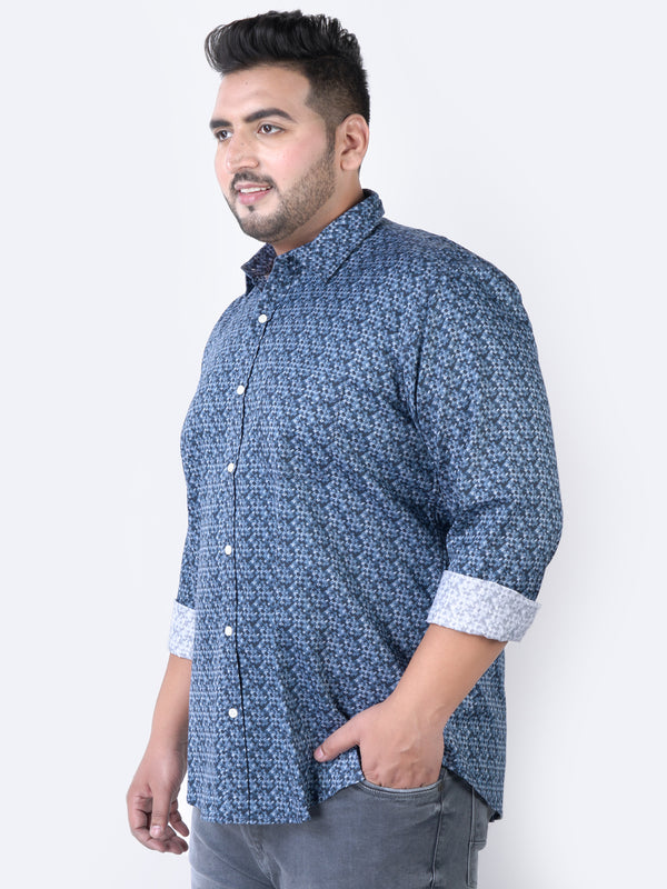 Blue GEO. Printed Shirt - 4207B