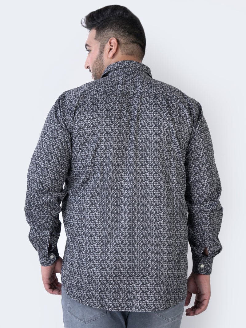 Grey GEO. Printed Shirt - 4207A