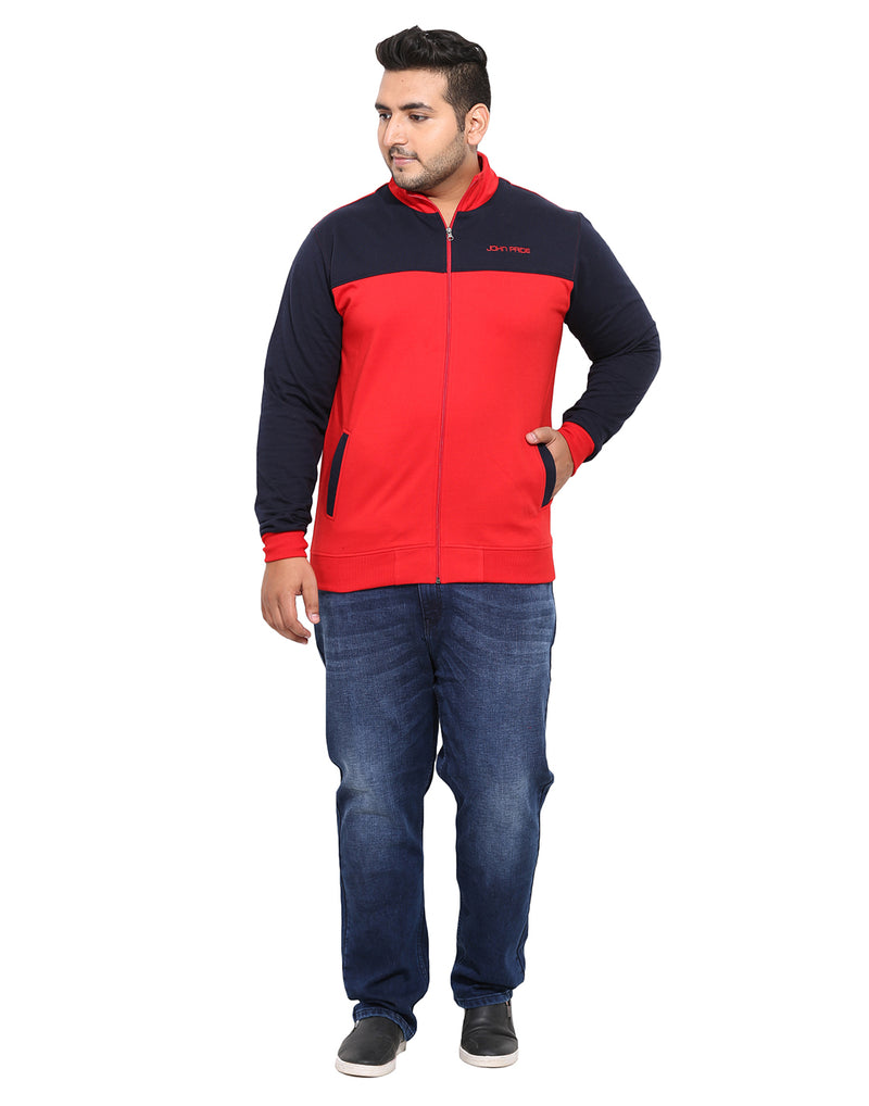 Red And Navy Sweatshirt- 7504A
