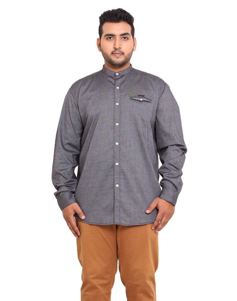 John Pride Grey Coloured Shirt - 2110A