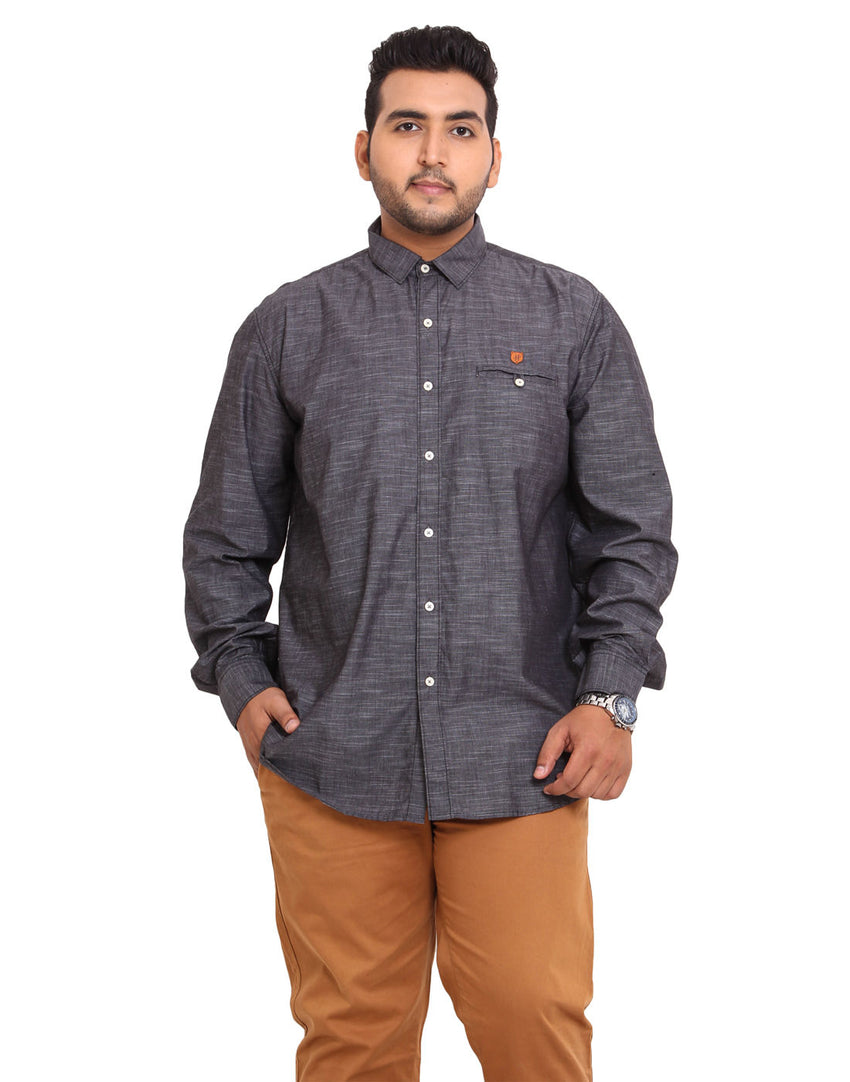 John Pride Grey Coloured Shirt - 2113A